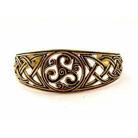Bracelet celtique avec trisquelion, bronze