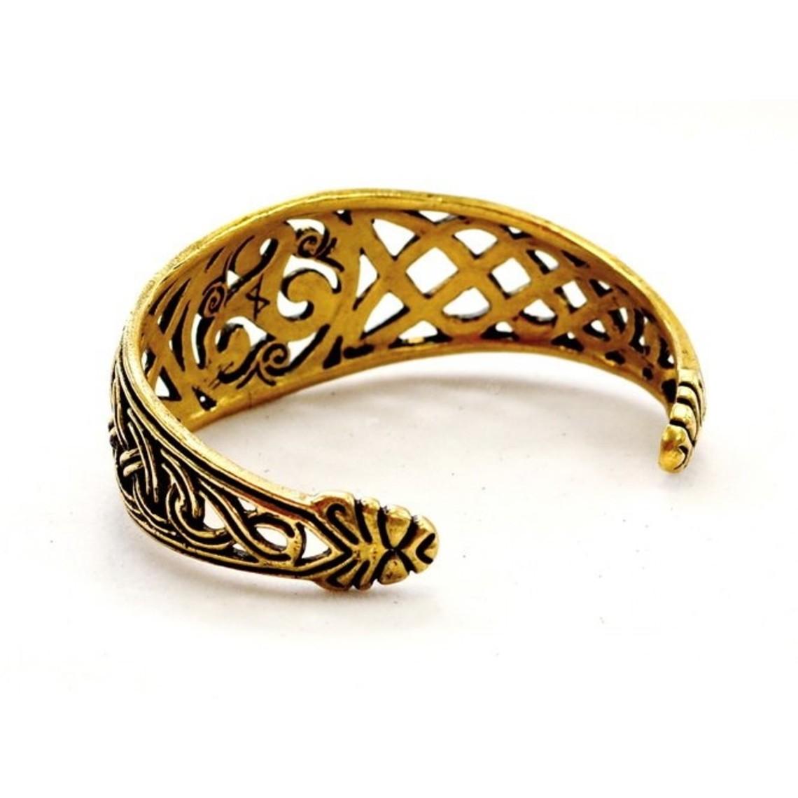 Keltische armband met trisquelion, verzilverd