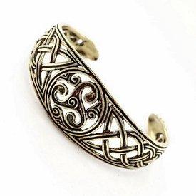 Bracelet celtique avec trisquelion, argentait