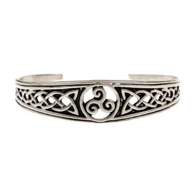 Smal Celtic armband med trisquelion, försilvrade