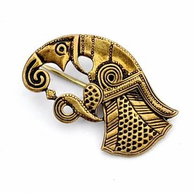 Germanic raven brooch Gotland, right, bronze