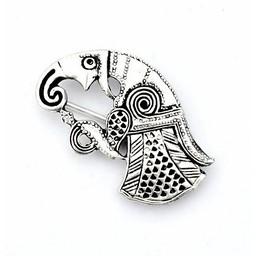 Germanic raven brooch Gotland, right, silvered