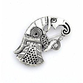 Germanic raven brooch Gotland, left, silvered