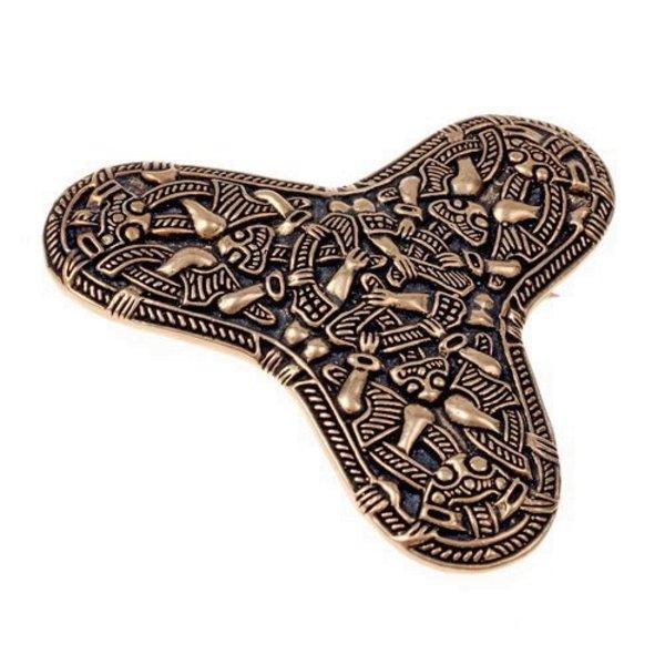 Viking broche Kaupang, bronze