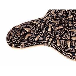 Viking brosch Kaupang, brons