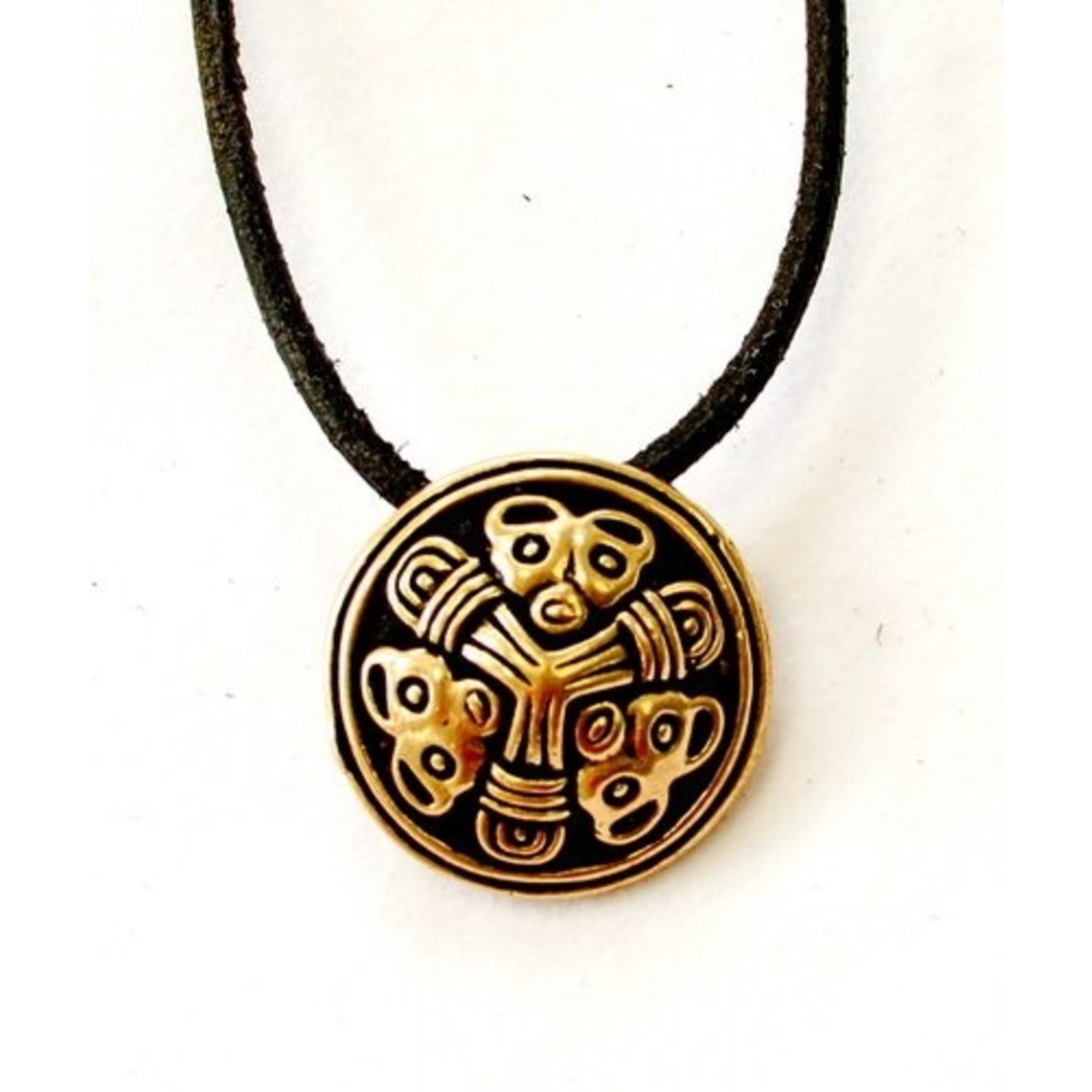 Kleine schijffibula Borrestijl, brons