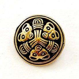 Lille skive fibula Borre stil, bronze