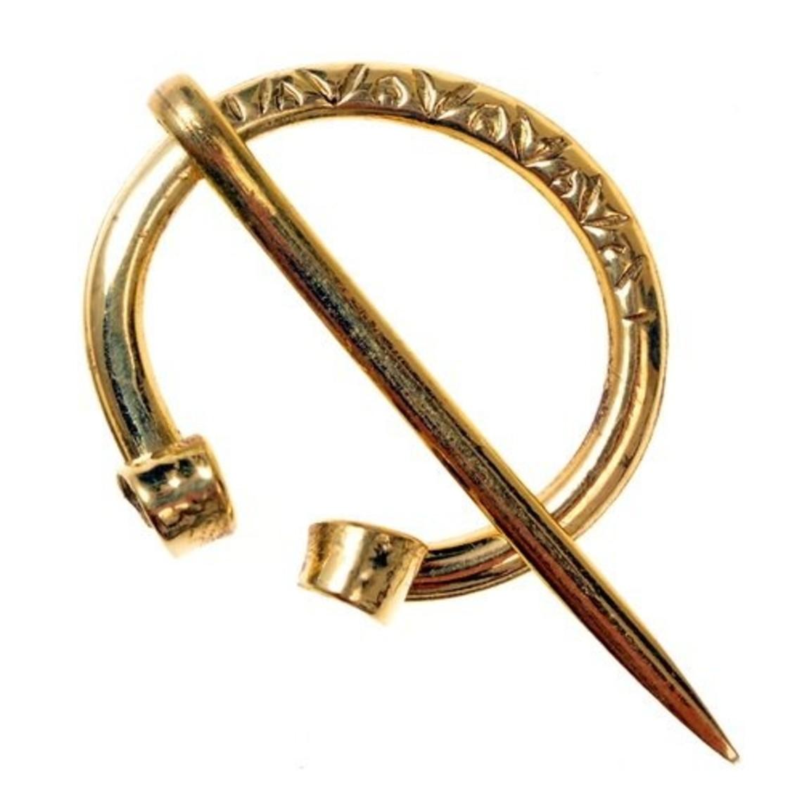 Viking horseshoe fibula Birka, bronze