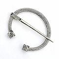 Viking horseshoe fibula Finland, silvered