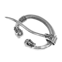 Ring fibula with animal heads, Haithabu, silvered