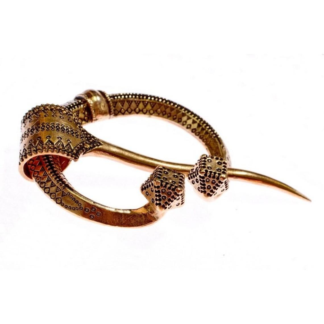 Fibula herradura Klintegarda, bronce