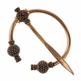 Viking thistle fibula small, bronze