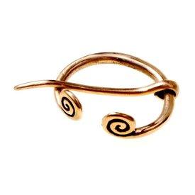 Liten ring fibula Birka, brons