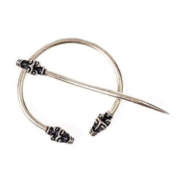 Iceland Viking fibula, silvered