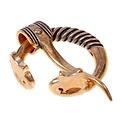 peroné anillo Báltico con cabezas de animales, bronce