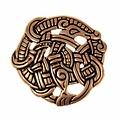 Urnes Stil Scheibenfibel, Bronze