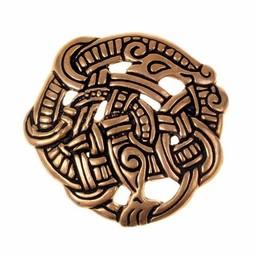 Urnes style disc fibula, bronze