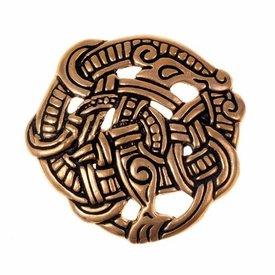 Urnes disque de style péroné, bronze