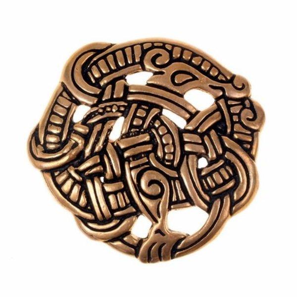 Urnes stil skive fibula, bronze