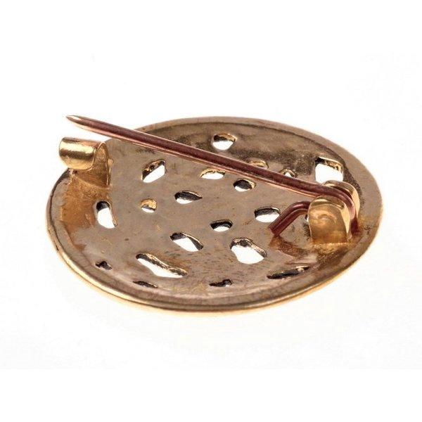 Viking skive fibula Jellinge stil, bronze