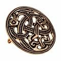 Viking disco peroné estilo Jellinge, bronce