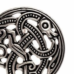 Viking Scheibenfibel Jellinge Stil, versilbert