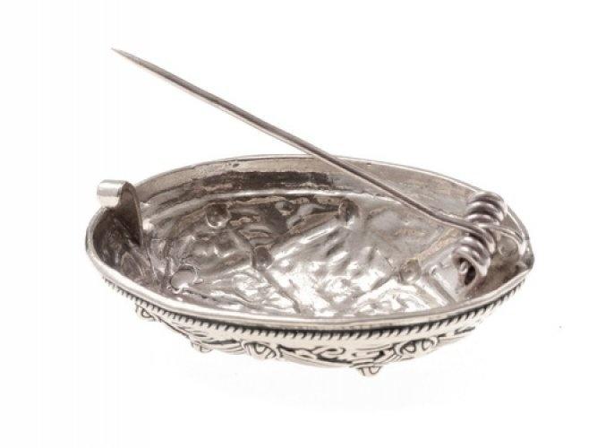 Bouclier Broche Oseberg, argenté, prix par pièce