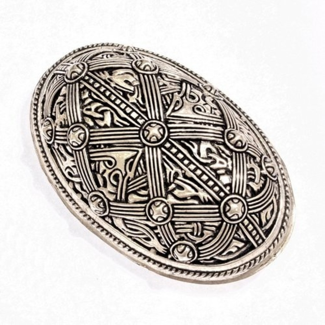 Escudo broche de Oseberg, plateado, precio por pieza