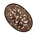 Jellinge estilo vikingo broche de tortuga, de bronce, precio por pieza