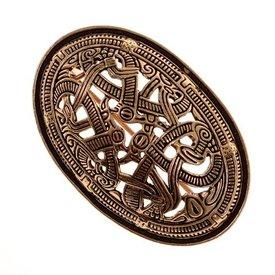 Viking schildbroche Jellingestijl, brons, prijs per stuk