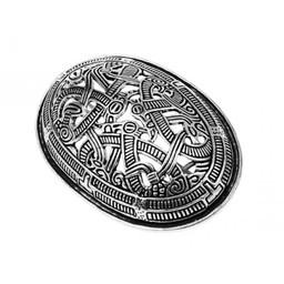 Viking sköldpadda brosch Jellinge stil, försilvrad, pris per styck