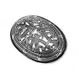 Viking tortuga estilo broche Jellinge, plateado, precio por pieza