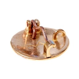 Birka disco peroné estilo de Borre, bronce