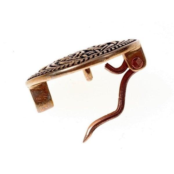 Birka disc fibula Borre style, bronze