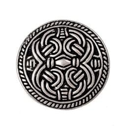 Birka disc fibula Borre style, silvered