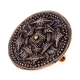 Granulado de Viking peroné disco, bronce