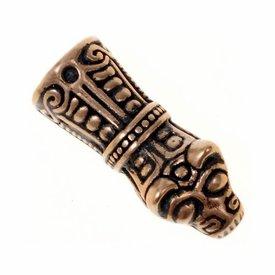 Viking kæde ende Mandermark, bronze, pris per styk