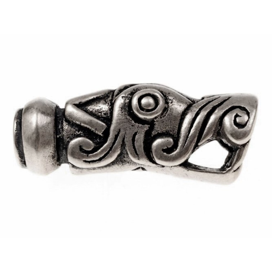 De Viking extremo de la cadena Gotland, plateado, precio por pieza