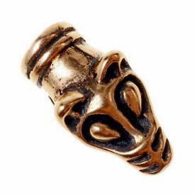 Viking kettingeinde wolvenkop, brons, prijs per stuk
