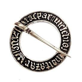Broche anneau médiévale, argenté