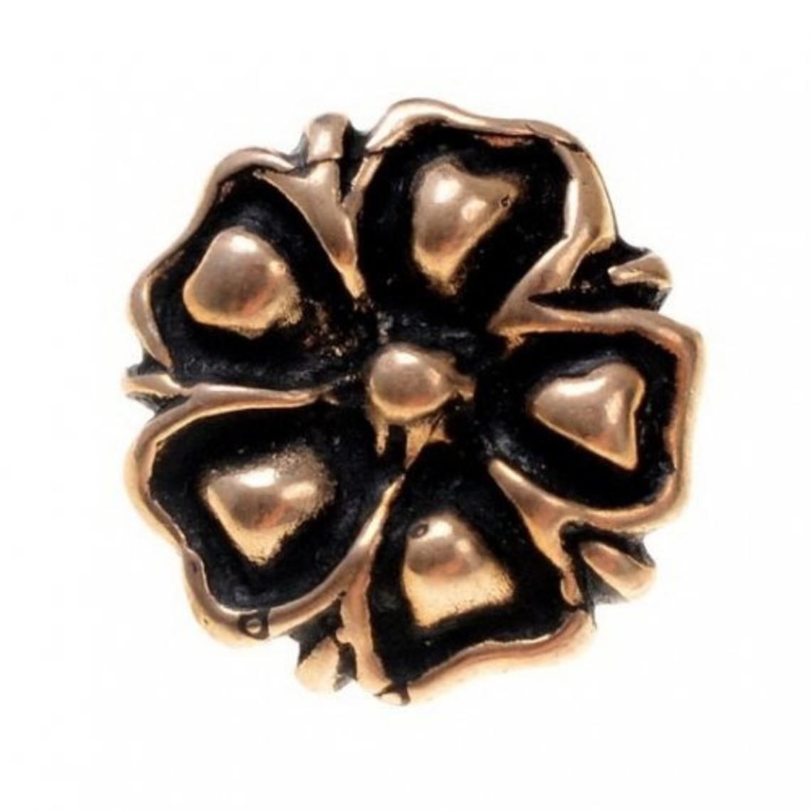 14. århundrede knapper blomstre, sæt af 5 stykker, bronze