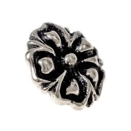 14. århundrede knapper blomstre, sæt af 5 stykker, tin
