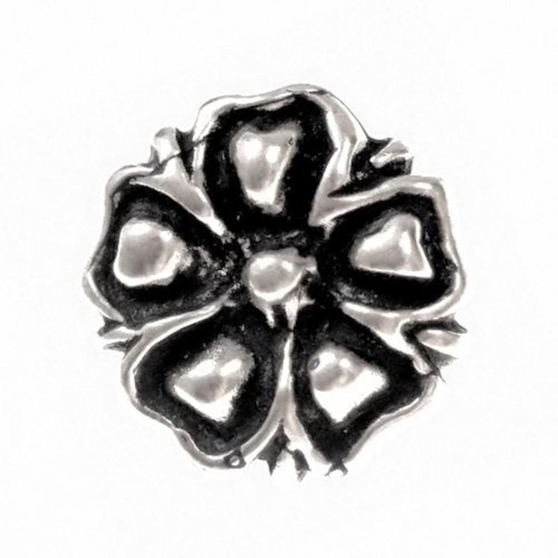 boutons du 14ème siècle fleur, ensemble de 5 pièces, étain