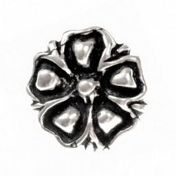 botones de flor del siglo 14, conjunto de 5 piezas, estaño
