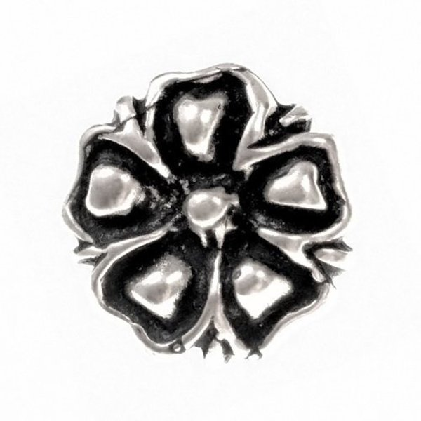 14th century buttons blossom, set of 5 pieces, pewter