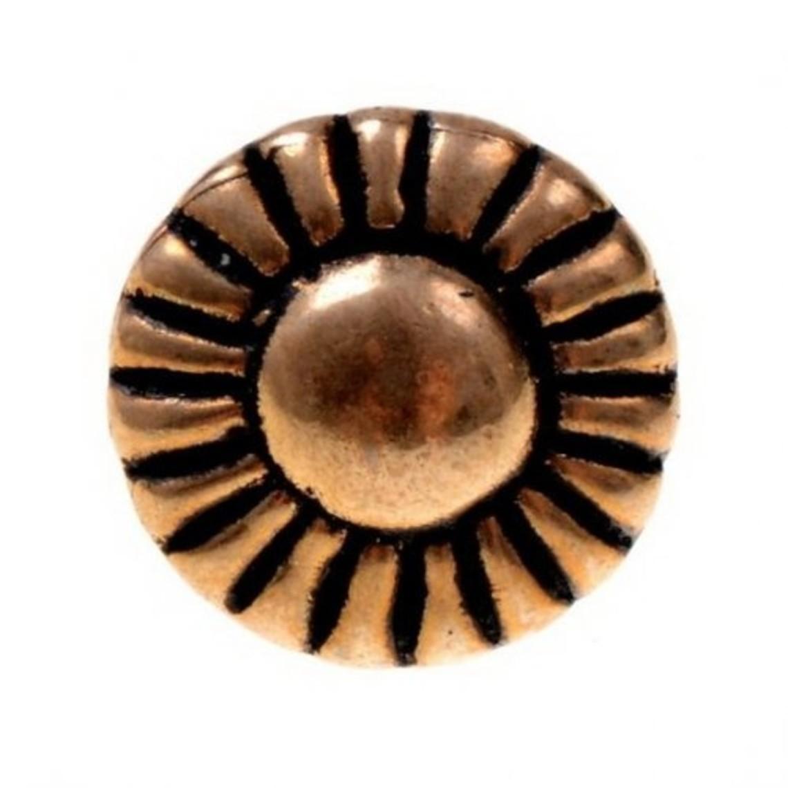 Bronzen knopen 1450-1600, set van vijf stuks