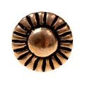 Boutons de bronze 1450-1600, ensemble de 5 pièces