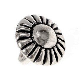 Tin knapper 1450-1600, sæt med 5 stykker