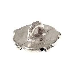 Późnośredniowiecznego przyciski z róży, cyny, zestaw 5 sztuk