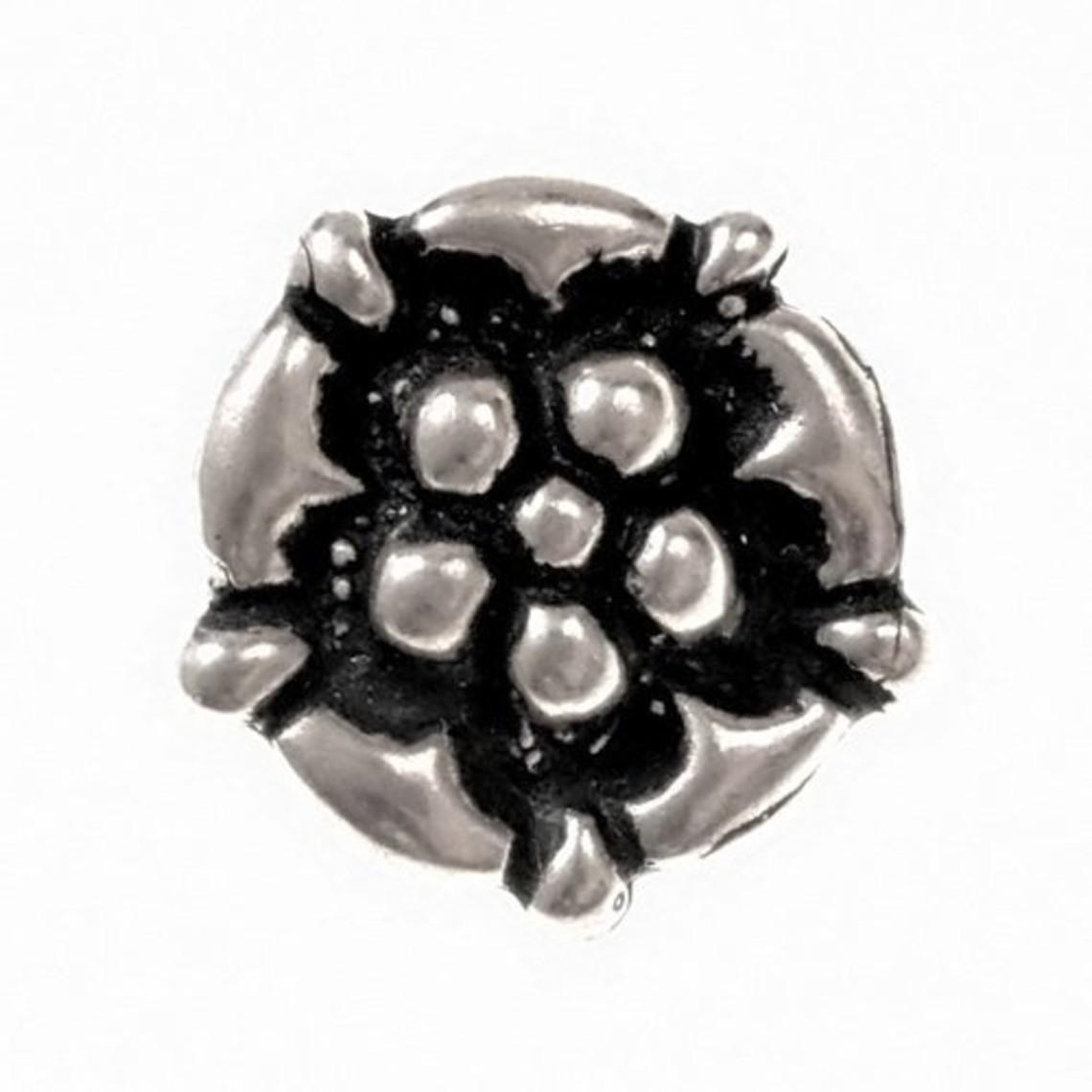 boutons fin du Moyen Age à la rose, l'étain, ensemble de 5 pièces